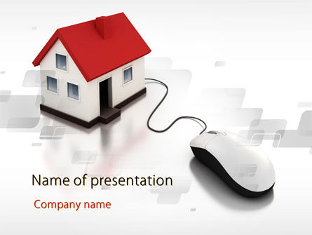 Real Estate: Modern House PowerPoint Template #09772
