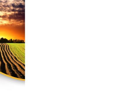 Arable Land At Sunset PowerPoint Template, Slide 3, 09774, Agriculture — PoweredTemplate.com