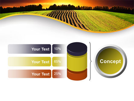 Arable Land At Sunset PowerPoint Template Slide 11