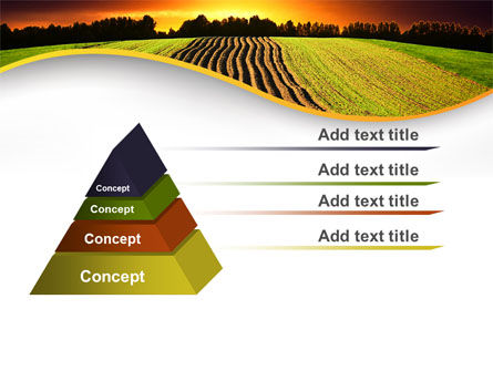 Arable Land At Sunset PowerPoint Template Slide 12