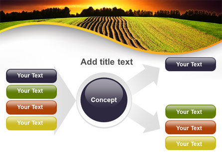 Arable Land At Sunset PowerPoint Template Slide 14