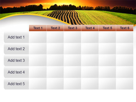 Arable Land At Sunset PowerPoint Template Slide 15