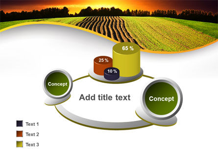 Arable Land At Sunset PowerPoint Template Slide 16
