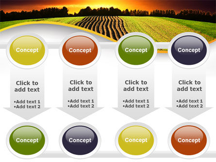 Arable Land At Sunset PowerPoint Template Slide 18