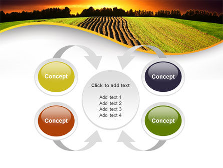 Arable Land At Sunset PowerPoint Template Slide 6