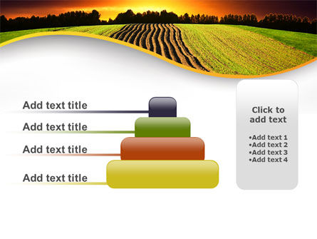 Arable Land At Sunset PowerPoint Template Slide 8
