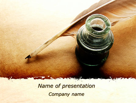Poetry PowerPoint Template, 09776, Education & Training — PoweredTemplate.com