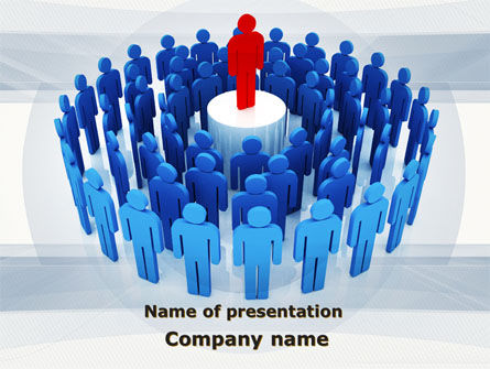 Business: Leader Erected On Pedestal PowerPoint Template #09777