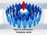 Business: 领导竖立在基座上PowerPoint模板 #09777