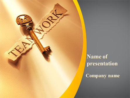 Business Concepts: Key Of Teamwork PowerPoint Template #09779