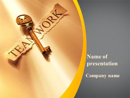 Key Of Teamwork PowerPoint Template, 09779, Business Concepts — PoweredTemplate.com
