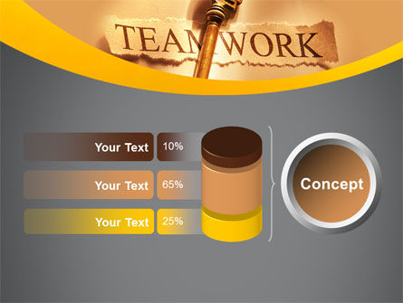 Key Of Teamwork PowerPoint Template Slide 11