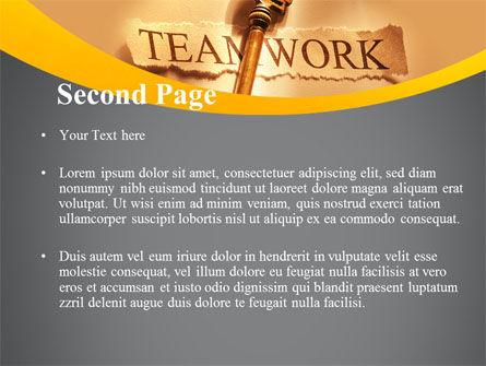 Key Of Teamwork PowerPoint Template, Slide 2, 09779, Business Concepts — PoweredTemplate.com