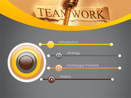 Key Of Teamwork PowerPoint Template Slide 3