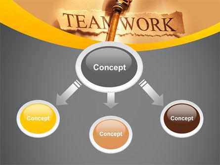 Key Of Teamwork PowerPoint Template, Slide 4, 09779, Business Concepts — PoweredTemplate.com
