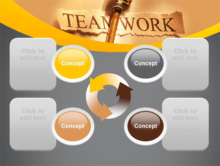 Key Of Teamwork PowerPoint Template Slide 9
