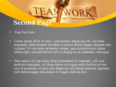 Key Of Teamwork PowerPoint Template#2