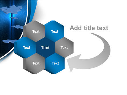Blue Puzzles Flying In Space PowerPoint Template Slide 11
