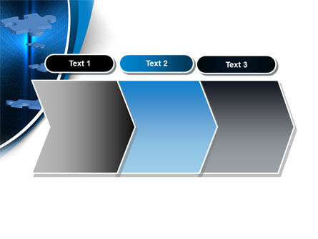 Blue Puzzles Flying In Space PowerPoint Template Slide 16