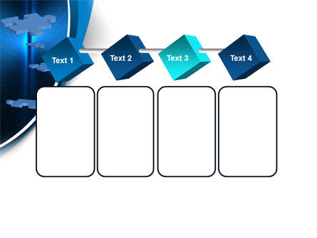 Blue Puzzles Flying In Space PowerPoint Template Slide 18