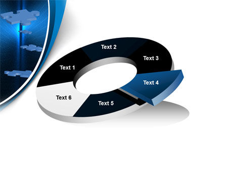 Blue Puzzles Flying In Space PowerPoint Template Slide 19