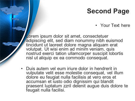 Blue Puzzles Flying In Space PowerPoint Template Slide 2