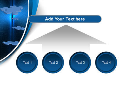 Blue Puzzles Flying In Space PowerPoint Template Slide 8