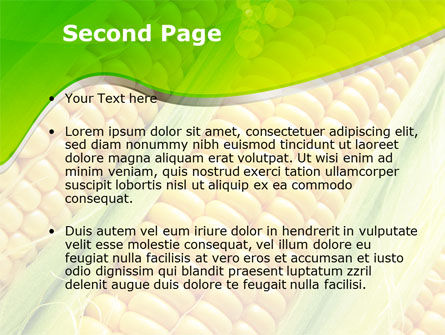 Ear Of Corn PowerPoint Template, Slide 2, 09782, Agriculture — PoweredTemplate.com