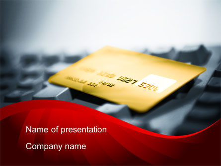 Financial/Accounting: Credit Card On the Keyboard PowerPoint Template #09783