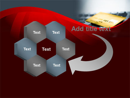 Credit Card On the Keyboard PowerPoint Template Slide 11