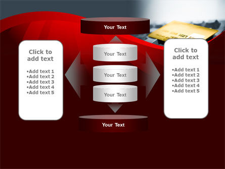 Credit Card On the Keyboard PowerPoint Template Slide 13