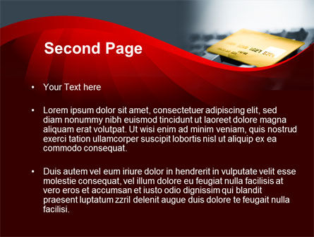 Credit Card On the Keyboard PowerPoint Template, Slide 2, 09783, Financial/Accounting — PoweredTemplate.com
