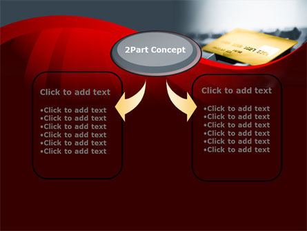 Credit Card On the Keyboard PowerPoint Template Slide 4