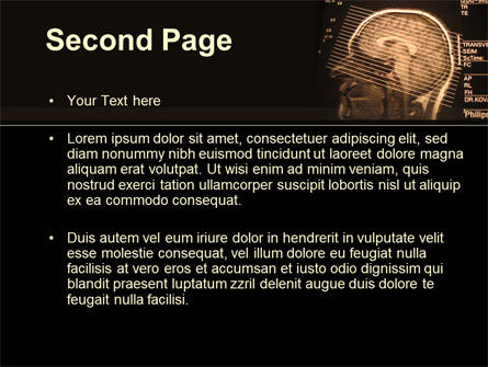 Brain Tomography Slice PowerPoint Template, Slide 2, 09785, Medical — PoweredTemplate.com