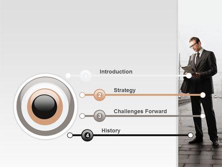 Man On Platform PowerPoint Template, Slide 3, 09786, Cars and Transportation — PoweredTemplate.com