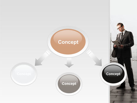 Man On Platform PowerPoint Template, Slide 4, 09786, Cars and Transportation — PoweredTemplate.com