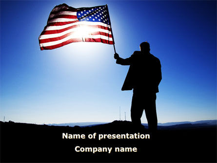 Flag of the USA PowerPoint Template, 09787, Flags/International — PoweredTemplate.com