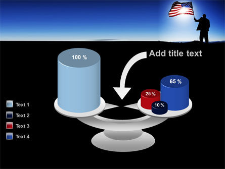 Flag of the USA PowerPoint Template Slide 10