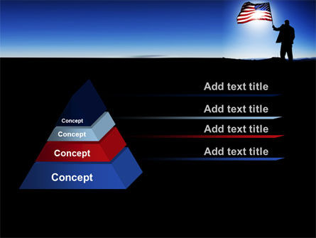 Flag of the USA PowerPoint Template Slide 12