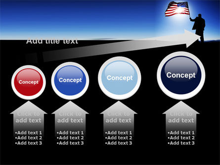 Flag of the USA PowerPoint Template Slide 13
