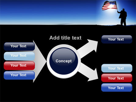 Flag of the USA PowerPoint Template Slide 14