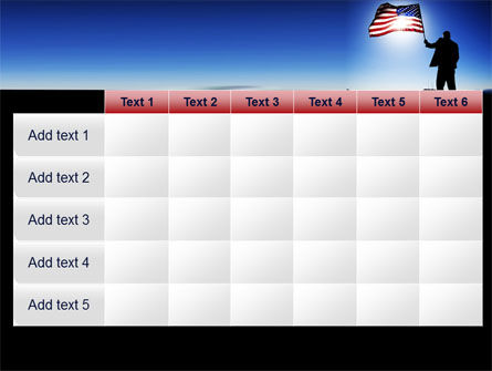 Flag of the USA PowerPoint Template Slide 15