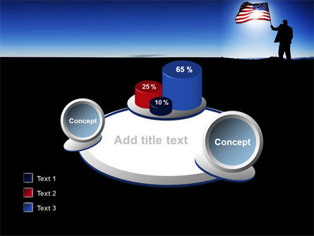 Flag of the USA PowerPoint Template Slide 16