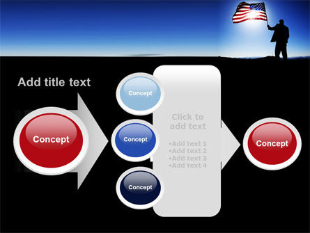 Flag of the USA PowerPoint Template Slide 17