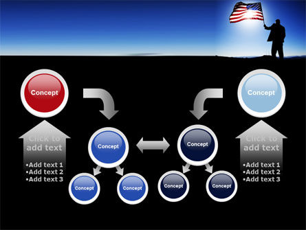 Flag of the USA PowerPoint Template Slide 19