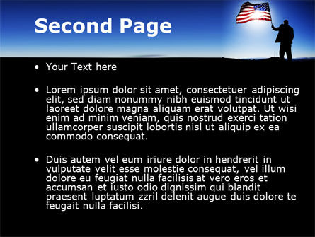 Flag of the USA PowerPoint Template Slide 2