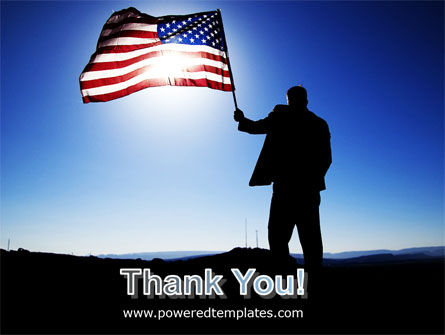 Flag of the USA PowerPoint Template Slide 20
