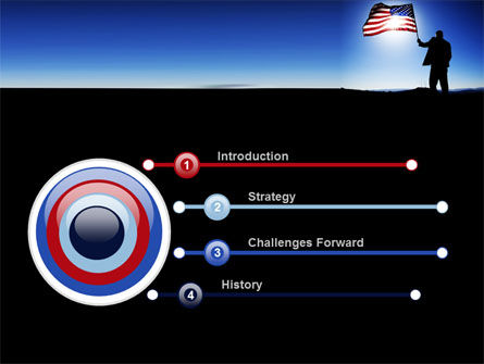 Flag of the USA PowerPoint Template, Slide 3, 09787, Flags/International — PoweredTemplate.com