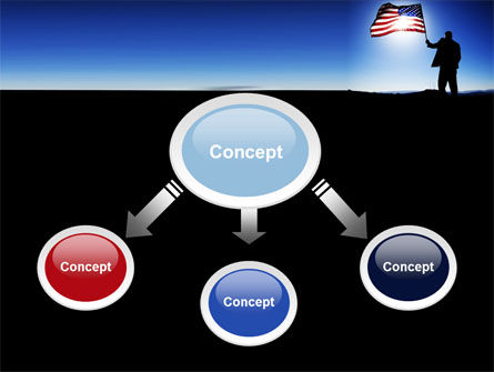 Flag of the USA PowerPoint Template, Slide 4, 09787, Flags/International — PoweredTemplate.com