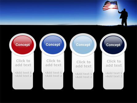 Flag of the USA PowerPoint Template Slide 5